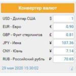 Необходимость установки виджета курсов валют